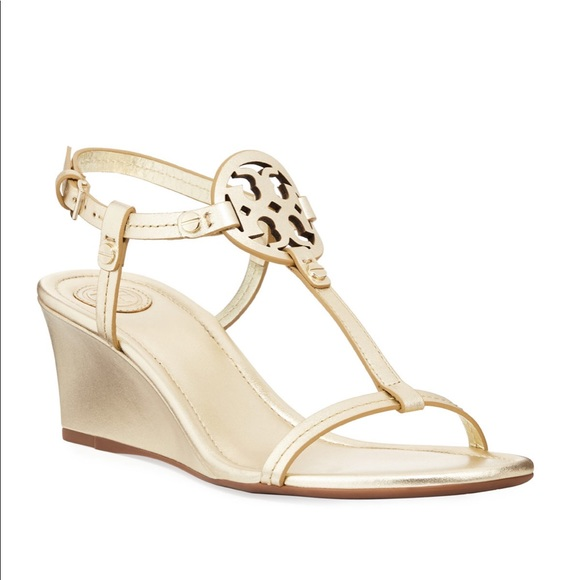 b1af00f87ad87 Brand New Tory Burch Miller Wedge sandals